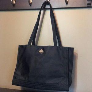 Kate Spade black nylon satchel/purse